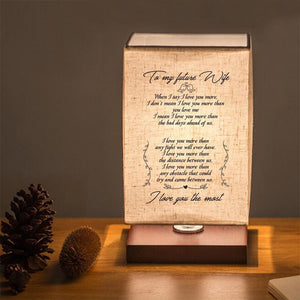 To My Future Wife - I Love You The Most LED Wood Table Lamp