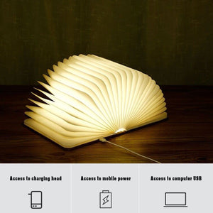 To My Grandson - I Will Always Be With You LED Folding Book Light