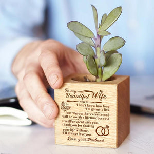 To My Wife I Will Always Love You Engraved Plant Pot