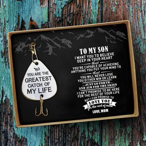 Mom To Son - You Are The Greatest Catch Of My Life Engraved Fishing Lure