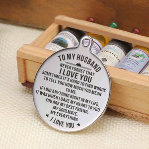 To My Husband - My Everything I Love You Personalized Keychain