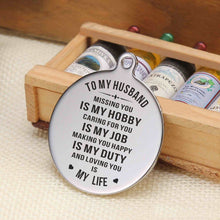 To My Husband Loving You Is My Life Engraved Keychain