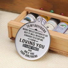 To My Boyfriend I Never Stop Loving You Engraved Keychain With Love Quotes
