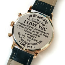 To My Husband You Are Special To Me Engraved Leather Watch