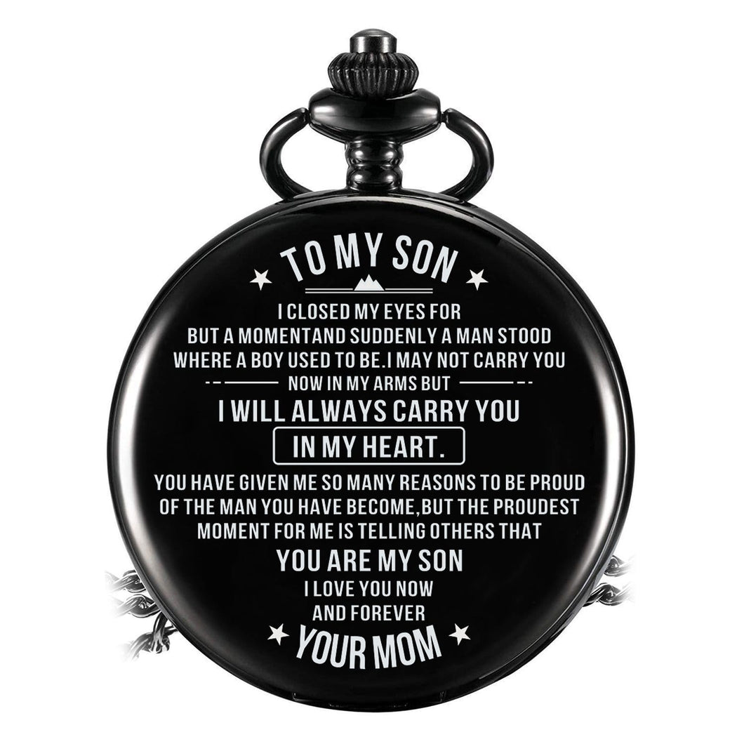 Mom To Son - Carry You In My Heart Pocket Watch