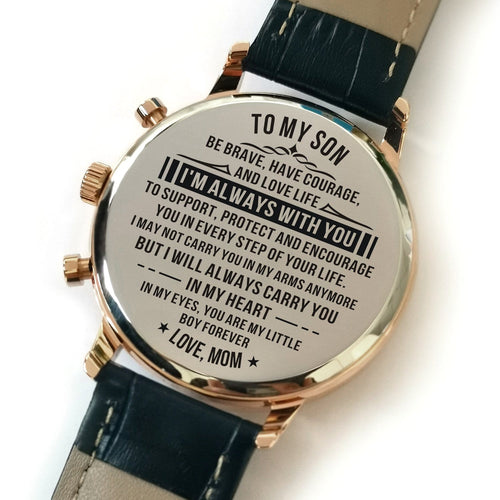 Watches Mom To Son - My Little Boy Forever Engraved Watch GiveMe-Gifts