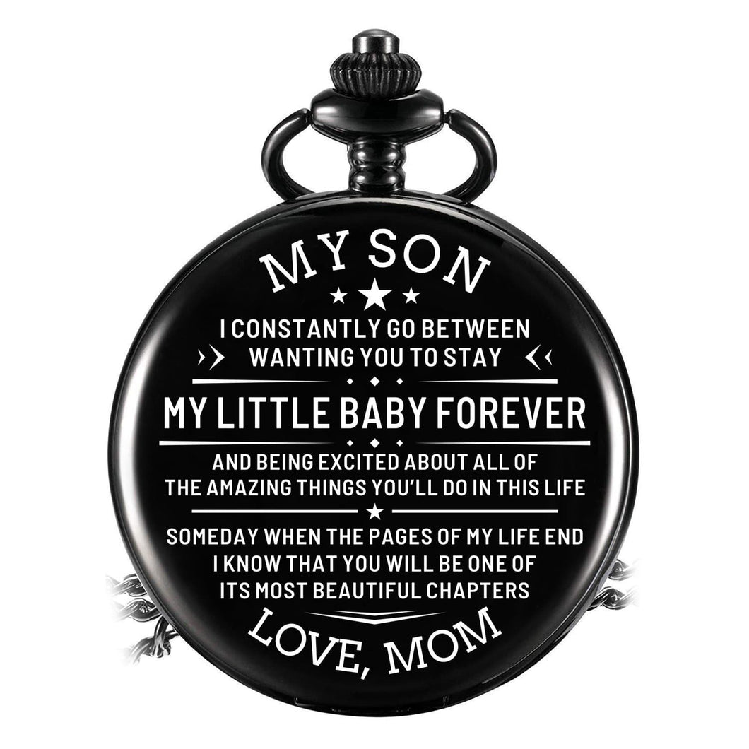 Mom To Son - My Little Baby Forever Pocket Watch