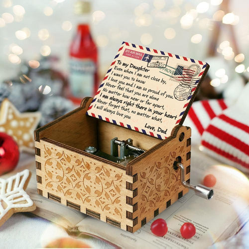 Dad To Daughter - I Will Always Love You Engraved Wooden Music Box