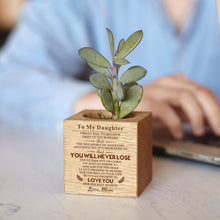 Mom To My Daughter You Will Never Lose Engraved Plant Pot