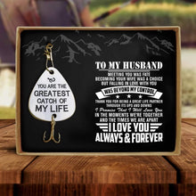 To My Husband - I Love You Always And Forever Engraved Fishing Lure