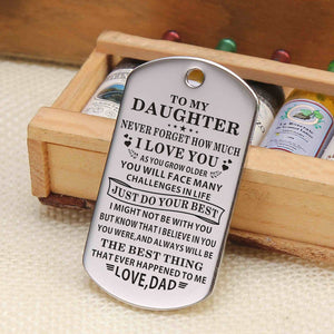Dad To Daughter - Just Do Your Best Personalized Keychain