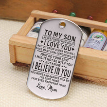 Mom To Son - I Believe In You Personalized Keychain