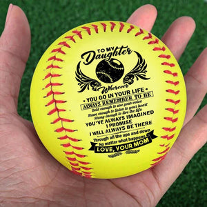 Mom To Daughter - I Will Always Be There Personalized Softball