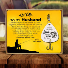 To My Husband - I Love You With All I Am Engraved Fishing Lure