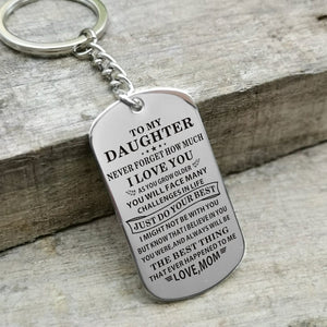 Mom To Daughter - Just Do Your Best Personalized Keychain