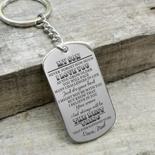 Dad To My Son You Were And Always Will Be The Best Thing Engraved Keychain
