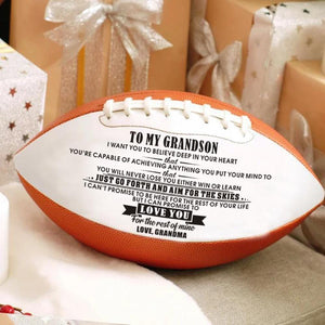 Grandma To Grandson - I Can Promise To Love You Engraved American Football