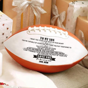 Mom To Son - I Can Promise To Love You Engraved American Football