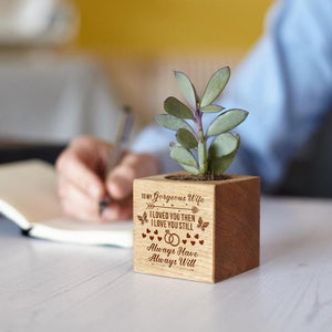 To My Wife I Always Love You Engraved Plant Pot
