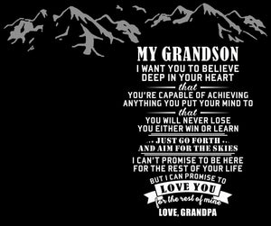 Grandpa To Grandson - You Are The Greatest Catch Of My Life Engraved Fishing Lure