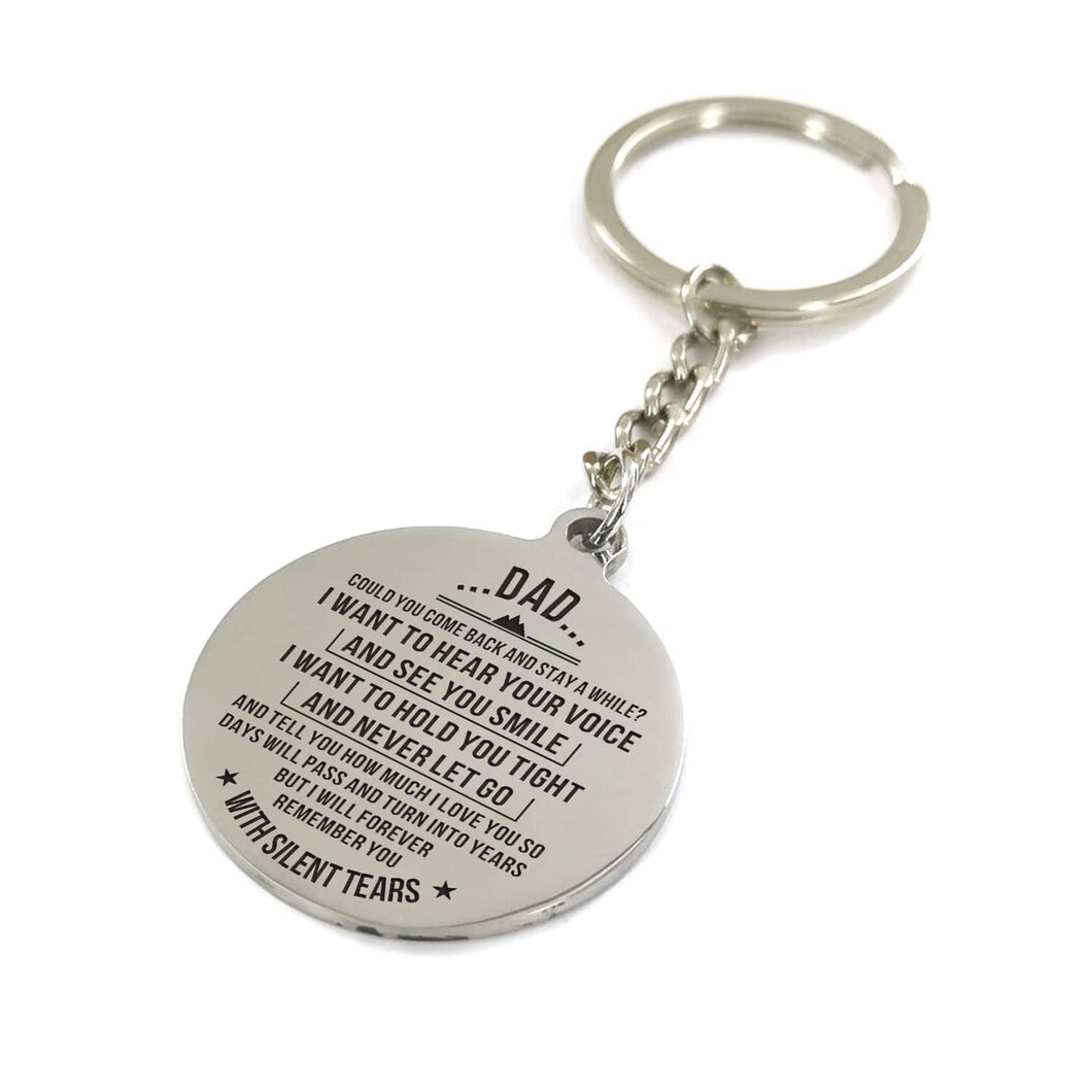 My Dad I Will Forever Remember You Engraved Keychain