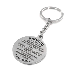 To My Husband - I Choose You Personalized Keychain