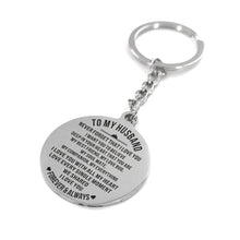 To My Husband - I Love You Forever and Always Personalized Keychain