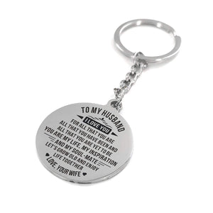 Keychains To My Husband - You Are My Life Personalized Keychain GiveMe-Gifts