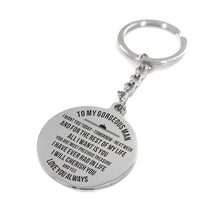 My Gorgeous Man I Love You Always Engraved Keychain With Love Quotes