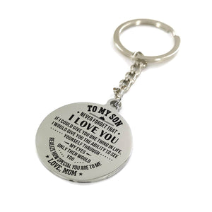 Mom To My Son You Realize How Special You Are To Me Engraved Keychain