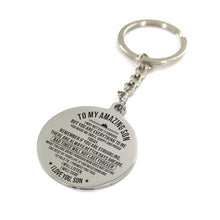 To My Amazing Son You Are Everything To Me Engraved Keychain