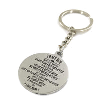 Mom To My Son I Will Always Be Right Here Engraved Keychain