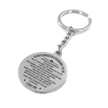 To My Gorgeous Husband To Be Engraved Keychain With Love Quotes