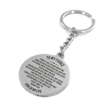 My Fiance I Do Believe In Fate And Destiny Engraved Keychain With Love Quotes