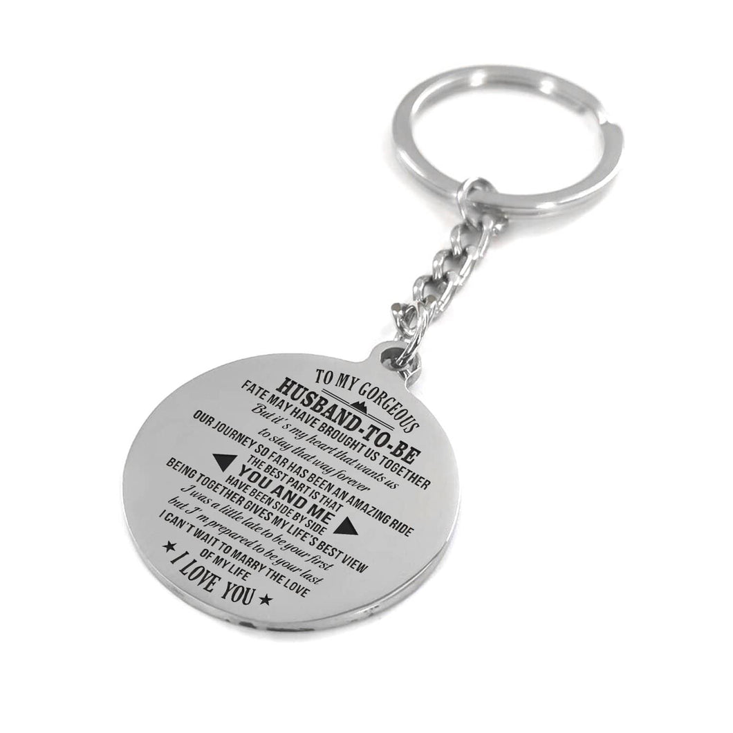 To My Gorgeous Husband To Be - Our Journey So Far Personalized Keychain