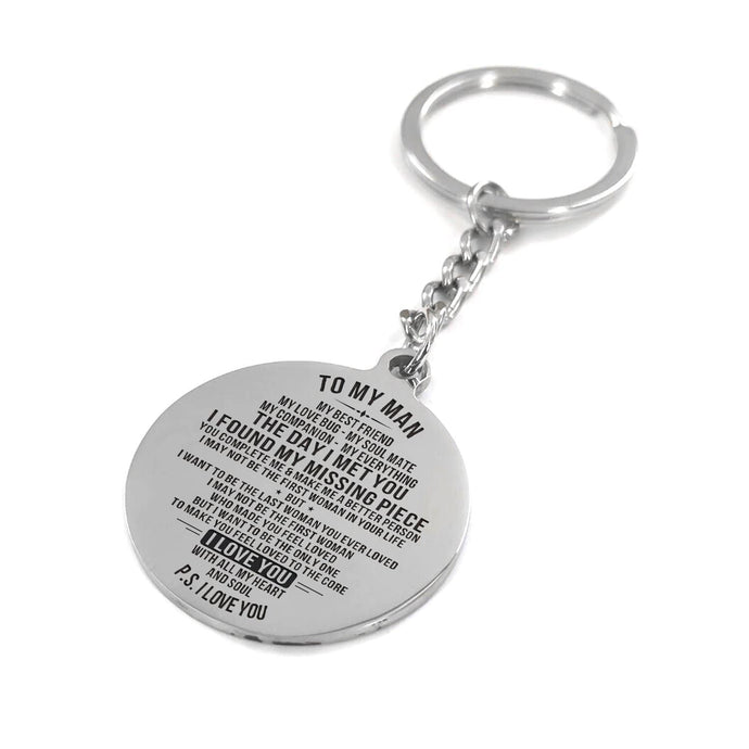 My Man The Day I Met You Engraved Keychain With Love Quotes