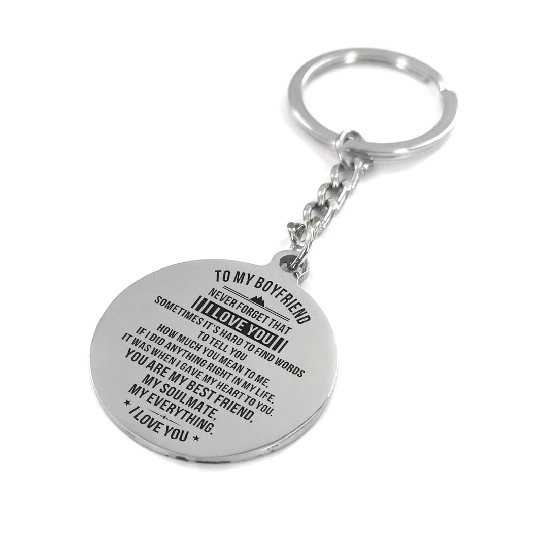 To My Boyfriend - You Are My Everything Personalized Keychain