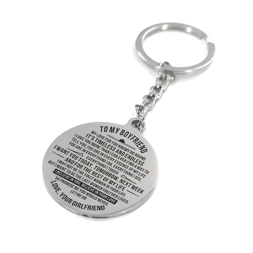 To My Boyfriend - I Want You Everyday Personalized Keychain