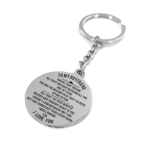 To My Boyfriend - You Are The Missing Piece Personalized Keychain