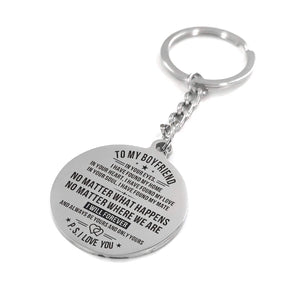 To My Boyfriend - I Will Forever And Always Be Yours Personalized Keychain