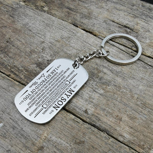 Mom To My Son I Am So Proud Of You Engraved Keychain