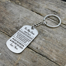 Mom To Son - Believe Deep In Your Heart Personalized Keychain