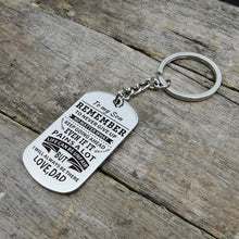Dad To Son - Remember To Never Give Up Personalized Keychain