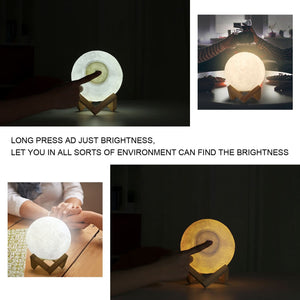 My Family Love Night Light - 3D LED Engraving Moon Lamp