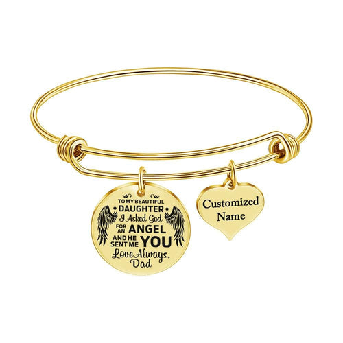 Dad To Daughter - Love Always Customized Name Bracelet