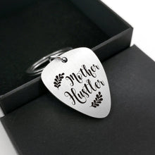 Mother Hustler - Customized Guitar Pick Keychain