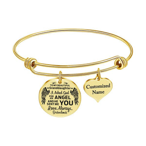 Grandma To Granddaughter - Love Always Customized Name Bracelet
