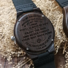 Mom To Daughter - I Am Always Here For You Engraved Wood Watch