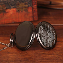Dad To Son - I Will Always Carry You In My Heart Pocket Watch