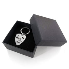 I Pick You - Customized Guitar Pick Keychain